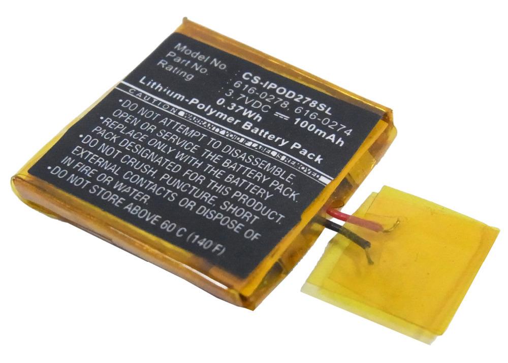 iPOD / MP3 / PMP Battery Fit iPOD Shuffle 2nd Generation 1G battery 100mAh new free shipping(China (Mainland))