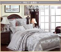bedding set jacquard silk cotton series for queen king 4pcs duvet quilt bedlinen cover bedclothes luxury bedsheet bedclothes