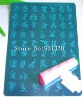 1PCS Cartoon Medium SIZE XL Stamp Image Plate Stamping Cartoon Design Plate Nail Art DIY Image Template +2side stamp+1scrap