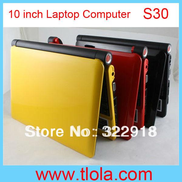 1PCS/Lot Cheap Laptop Computer 10 inch D2500 CPU 1GB RAM 160GB HDD WIFI Camera S30 Free Shipping(China (Mainland))