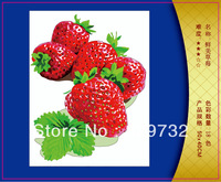 JIUJIU DIY digital oil painting Free shipping unique gift picture canvas 40X50cm Delicious strawberries paint by number