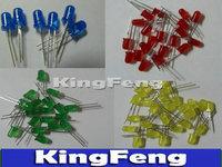 Free Shipping 4Valuesx250pcs=1000pcs 5mmRed Blue Green Yellow  Diffused Round   Led Lamp