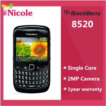 one year  warranty original Refurbished BlackBerry Curve 8520 original unlocked cell phone By SG Post free shipping