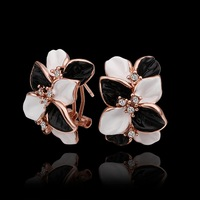 transhipment plated 18k rose gold female earring cute stud earring 18k jewerly High quality,not lose color,antiallergic