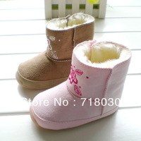 2013 hot new baby Rubber bottom first walkers baby shoes Cotton-padded snow boots inner size 12cm13cm 14cm Free shipping 8880