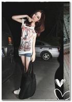 2013 New Fashion Round Collar Short Sleeve T-shirt White
