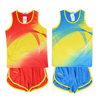 Luwint Men track suit training set vest shorts competition clothing running suit comfortable and breathable