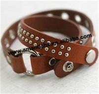 100pcs/lot hot sell fashion korea leather bracelets