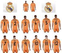 real madrid orange casillas varane pepe sergio ramos f coentrao khedira ronaldo kaka benzema ozil bale marcelo soccer jerseys
