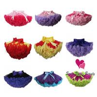 2013 New Free Shipping Baby Girl's Popular Chiffon Fluffy Ruffle Pettiskirt ,Children Birthday Soft Tutu Skirt free shipping