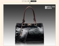 Women leather handbag Brand genuine leather crocodile women's bags shoulder cross-body bags four colors messenger bag freeship