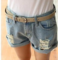 New 2014 Brand High Waist Women Shorts/Fashion Jeans Denim Shorts For Women/Casual Summer Women Short Pants