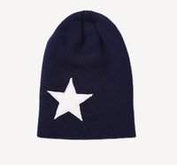 Hot Selling New 2013 Five-Pointed Star Solid Sport Unisex Men Women Spring Winter Cap Plain Warm Knit Ski Beanies Skull Hats