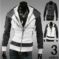 2013 Autumn&Winter Fashion Slim Cardigan Hoodies Sweatshirt Outerwear Clothing Men.Brand Causal Sports Outdoor Wear M-XXL W1047