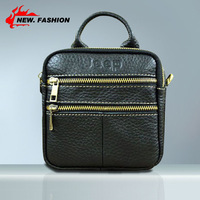 Genuine leather multifunctional fine man bag new arrival male small messenger bag shoulder bag handbag cowhide waist pack 1247