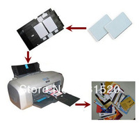 Double Side Direct Inkjet Print Blank White ID PVC cards 0.76mm Thick used in Home Epson Inkjet Printer, 230pcs/lot