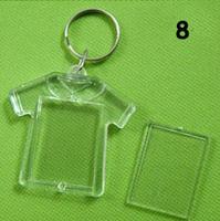 Free shipping fashion acrylic frame key ring promotional gift hotsale acrylic photo frame key chain acrylic photo llavero