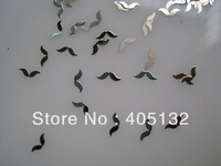 MS-236-1 Free Shipping Metal Silver Nail Art Metal Sticker Nail Art Decoration Fancy Outlooking