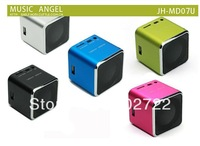 Free send DHL -20PCS mini stereo subwoofers mini speaker, portable card speaker usb radio outside the MP3 player