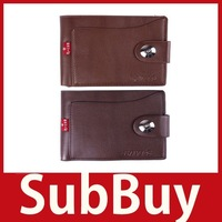 [SubBuy] Fashion Mens Magnetic Buckle Leather Short Square Shaped Card Purse Wallet Bag wholesale