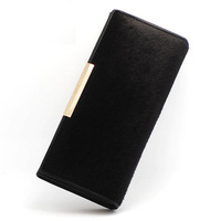 2014 free shipping horse hair women leather handbags hot selling genuine leather wallet best design purse women genuine leather