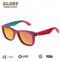 Hot Selling 2014 Magenta Skateboards Wooden Sunglasses Polarized Designer Glasses Retro Splash Hand Polish Eyewear Free Shipping