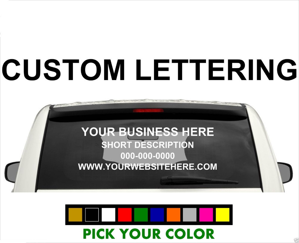 Custom Car Window Decals - Letter custom vinyl decals for car