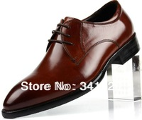 2013 Fashion Classic Men casual business Genuine Leather Shoes Best quality formal oxfords with cow leather shoes Free Shipping