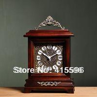 Good Quality solid wooden clock silent movement classical fashion vintage clocks desktop