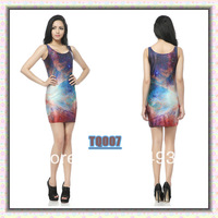 New arrival 2014 dress Blackmilk vest slim basic short skirt slim hip one-piece dress female u spandex dress