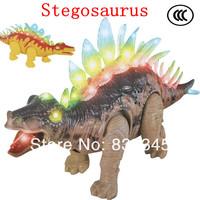 jurassic park dinosaur toys Stegosaurus Simulation Electric toys battery operated dinosaur/ Have Sound, lighting, can walk