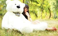 Free shipping High quality Low price Plush toys large size100cm / teddy bear 1m/big  MR003