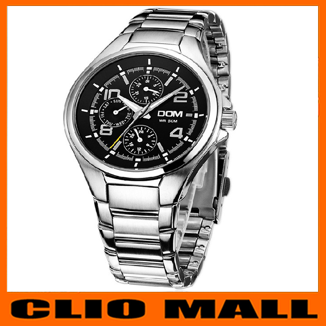 relogio masculino Swiss movement men's high quality business sapphire quartz wristwatch multifunction waterproof men watch reloj(China (Mainland))