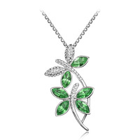Extravagant Colorful Austrian Crystal Necklace,Delicate Dragonfly Pendant Jewellery,Wholesale 2pcs 18%OFF,FreeShipping,IN008