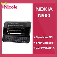 Lowest price original Refurbished unlocked  Nokia N900 Mobile phone GSM 3G GPS WIFI 5MP 32GB  memory support Russian keyboard