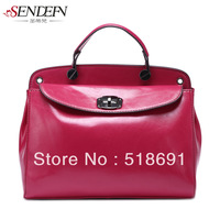 Women's women's handbag cowhide handbag fashion vintage women's big bag shoulder bag messenger bag