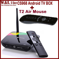 CS968 Quad Core RK3188 Android TV-Box 2GB RAM 8GB ROM  MINI PC Microphone Camera AV Bluetooth RJ45 Smart TV Box + T2 Air Mouse
