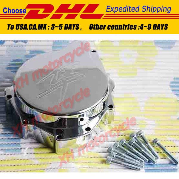 peças da motocicleta tampa do motor do estator para Suzuki Hayabusa GSXR1300 1998-2012 CHROME lado esquerdo(China (Mainland))