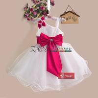 New Girls Dress Princess dress children's wear Party veil Big bow girl wedding flower Baby girls dress,Christmas red bow dress