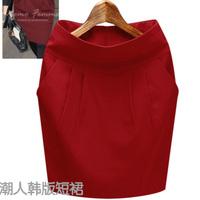 Free Shipping 2014 7colors Korean Style Saias Shorts Feminino Women's New Winter Woolen Skirt Hip Bud A-line Skirts XS-3XL 1269