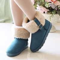 Cotton Flax boots women boots flat boots with thick elastic boots Martin boots snow boots cotton boots shoes Knight