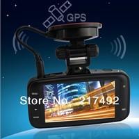 "Free shipping!Ambarella Mini Car DVR GS8000 recorder full HD 1920X1080P 2.7"" LCD 170 Degree Wide Angle GPS logger G-Sensor"