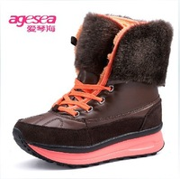 {D&T Shop} 2013 New Winter Women Sneakers Warm Plush Swing Shoes Wedges Sneakers For Women  Wholesale Free Shipping