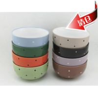 New Fashion Creative colorful cute Polka Dot Ceramic soup bowl porcelain rice bowl