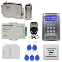 DIY Remote Control 125KHz RFID Keypad Door Lock Access Control System Kit with Doorbell Button + Electric Lock BC200
