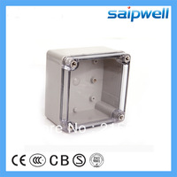125*125*75mm Transparent waterproof box plastic ABS switch box  IP66 junction box electronic box DS-AT-1212-S