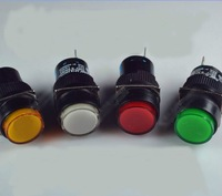 Lots 4 Pcs Ap16-11 push button switch small power switch hole size 16mm LA128 LA16-y-11