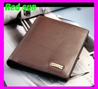 2013 New Men Luxury High Genuine Leather & PU Brand Wallet Men Short Wallet card holder billfold card holder money clip828