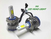 2nd Generation H4 60W COB LED Car Headlight Car Fog light , lamp 3600 lumens 6000K NO ERROR FREESHIPPING GGG