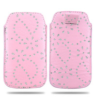 PU Leather Pouch Case Bag Diamond Flower Blossom for philips w632 Cover Cell Phone Accessories
